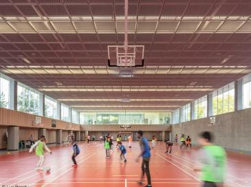 Nouveau gymnase à Colombes réalisé par Ropa & Associés Architectes