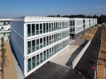 8 360 m2 de mur-rideau Wicona éclairent la ZAC de la Chantrerie