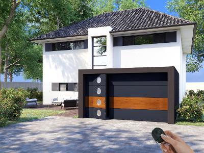 Porte de garage Activa avec portillon automatique
