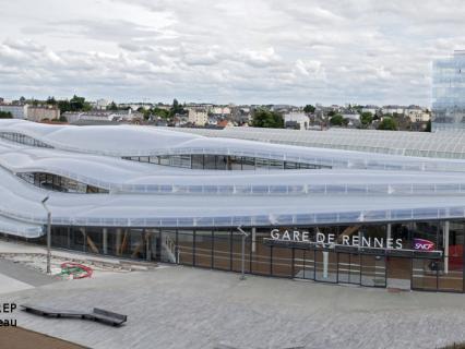 Pôle d'échange multimodal à Rennes