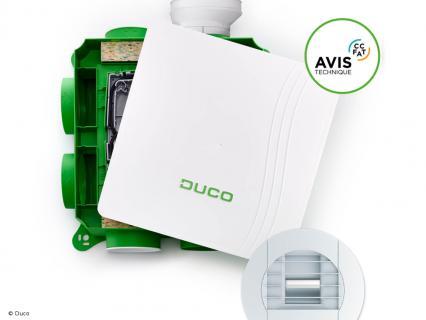 Duco obtient l'Avis Technique pour sa nouvelle gamme de VMC DucoBox Hygro
