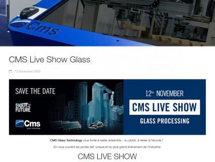 CMS fait son Live Show le 12 novembre prochain, en direct du Technology Center de Zogno