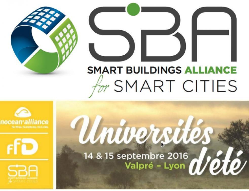 La Smart Building Alliance ouvre son université d'été les 14 et 15 septembre 2016 à Valpré - Lyon