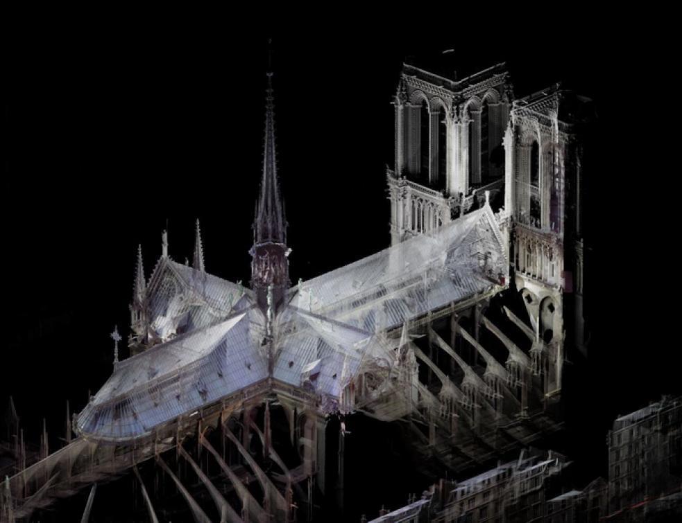 Toute la partie détruite de Notre-Dame de Paris avait été numérisée !