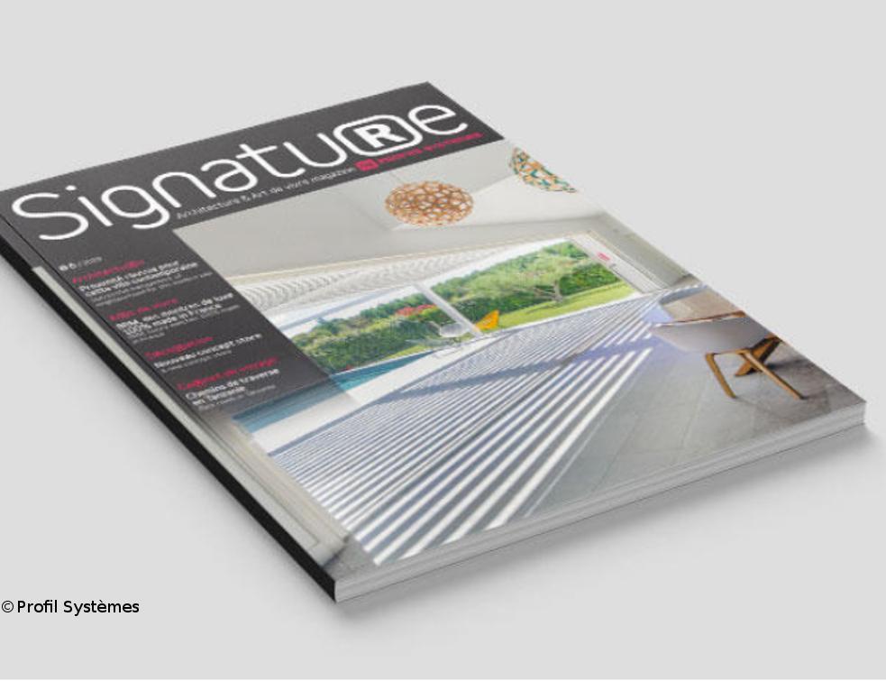 Profils Systèmes dévoile son magazine d'architecture et d'art de vivre