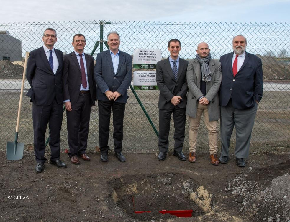 CELSA Group™ pose la première pierre de son nouveau train de laminage d'acier