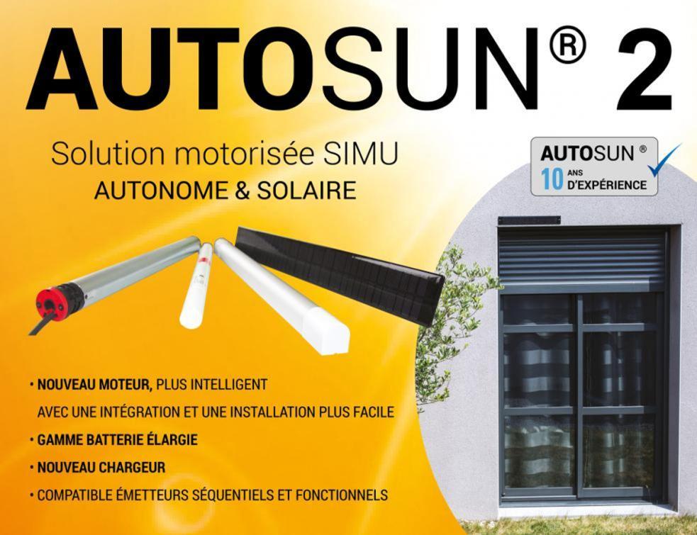 Autosun®2, la solution solaire SIMU, 100% autonome et sans travaux