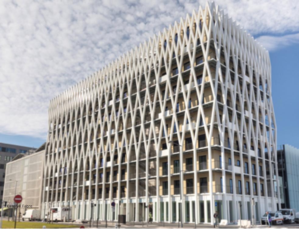 WICONA habille et ventile le plus haut immeuble de bureaux en bois de France