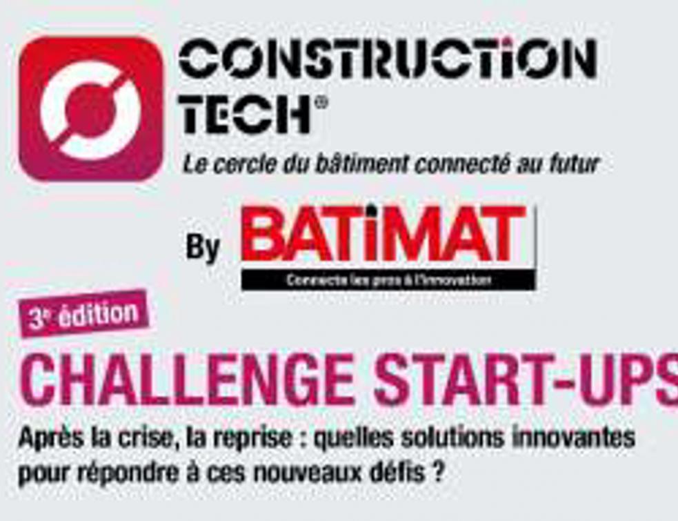 Troisième édition du challenge Start ups Construction Tech