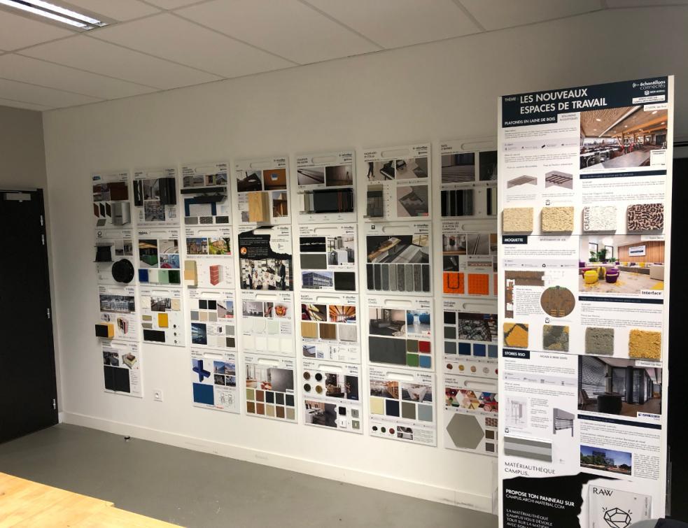 Tellier Brise-Soleil & Bluetek intègrent la matériauthèque Campus Archimaterial