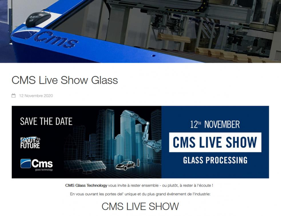 CMS fait son Live Show le 12 novembre prochain, en direct du Technology Center de Zogno
