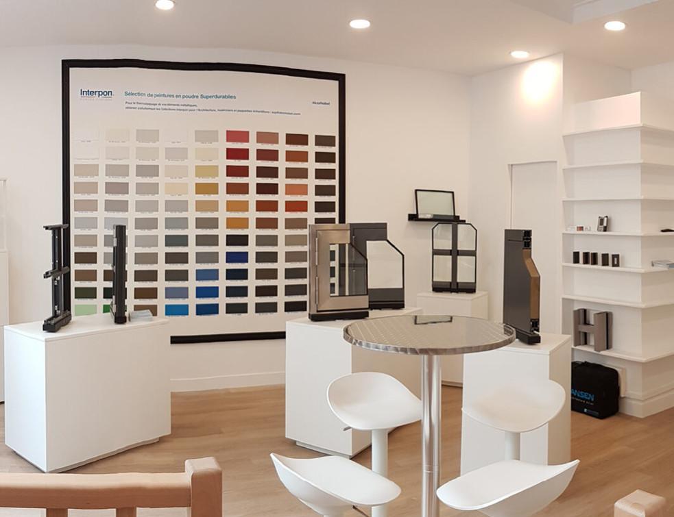 Le nouveau showroom parisien de Descasystem Jansen, dédié à tous projets architecturaux