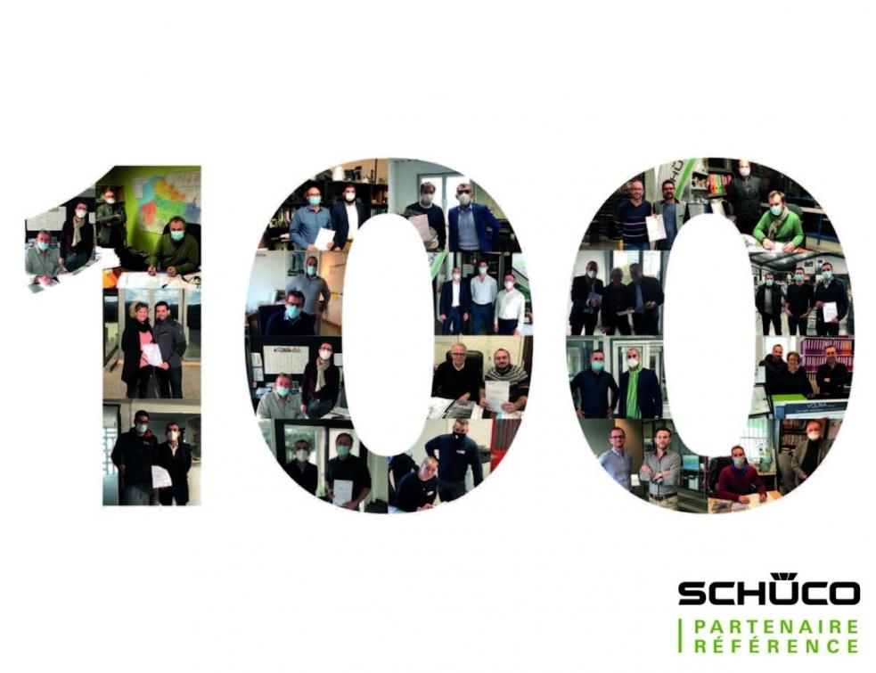 Partenaires Référence Schüco et de 100 !